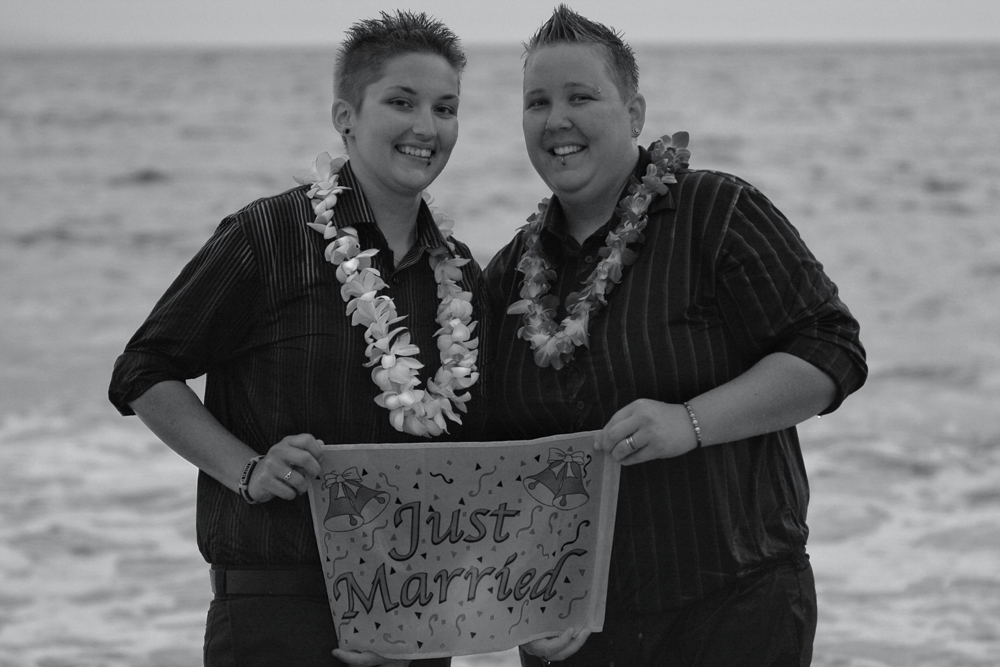 Maui gay beach weddings