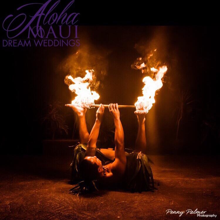 Affordable Destination weddings fire dancer